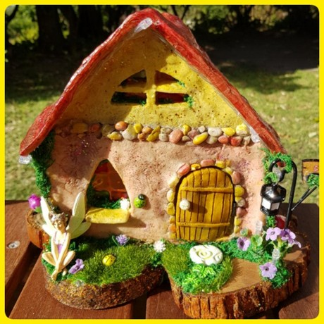Fairy Cottage with lights