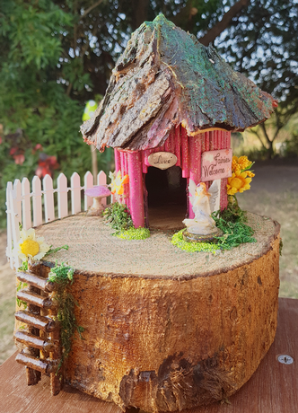 Pink Hut with Fairy